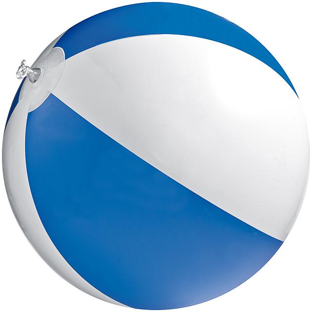 Bicoloured beach ball - blue
