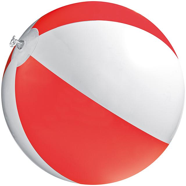Bicoloured beach ball - red