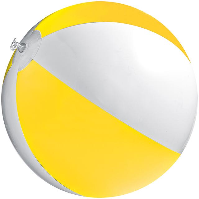 Bicoloured beach ball - yellow