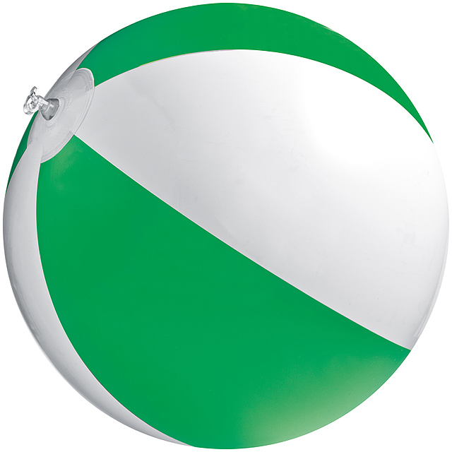 Bicoloured beach ball - green