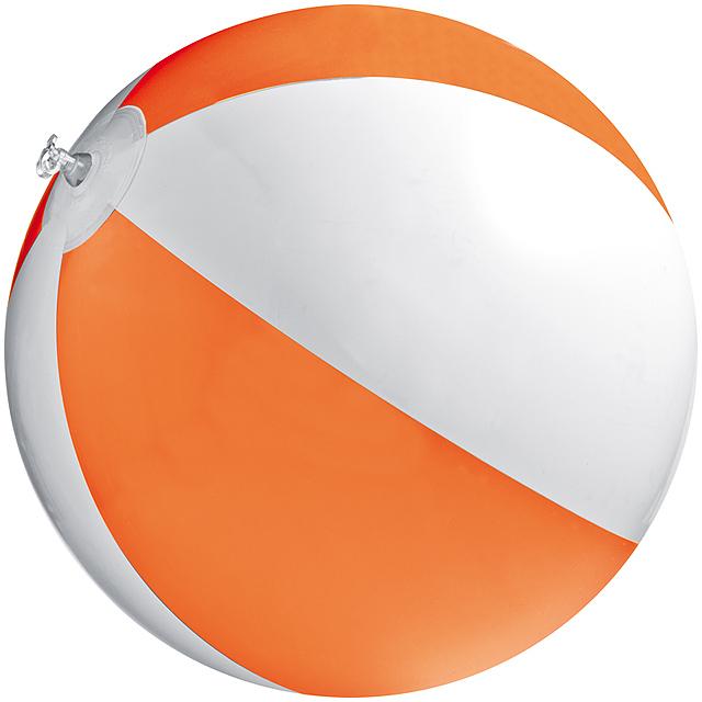 Bicoloured beach ball - orange