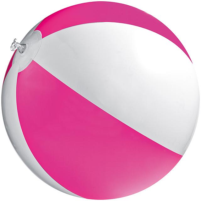 Bicoloured beach ball - pink