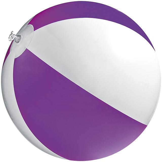 Bicoloured beach ball - violet