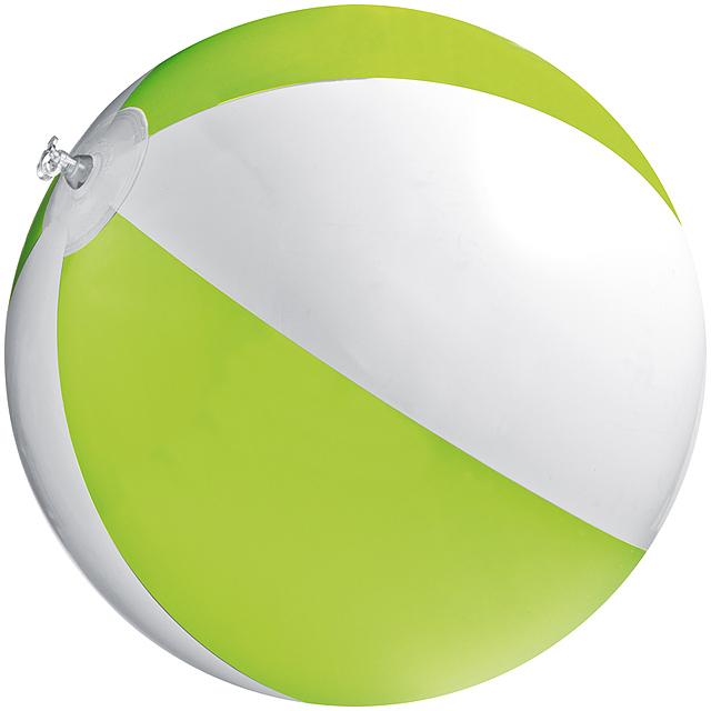 Bicoloured beach ball - lime