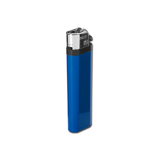 MAXI - Plastic single-use gas lighter with flint firing. - blue