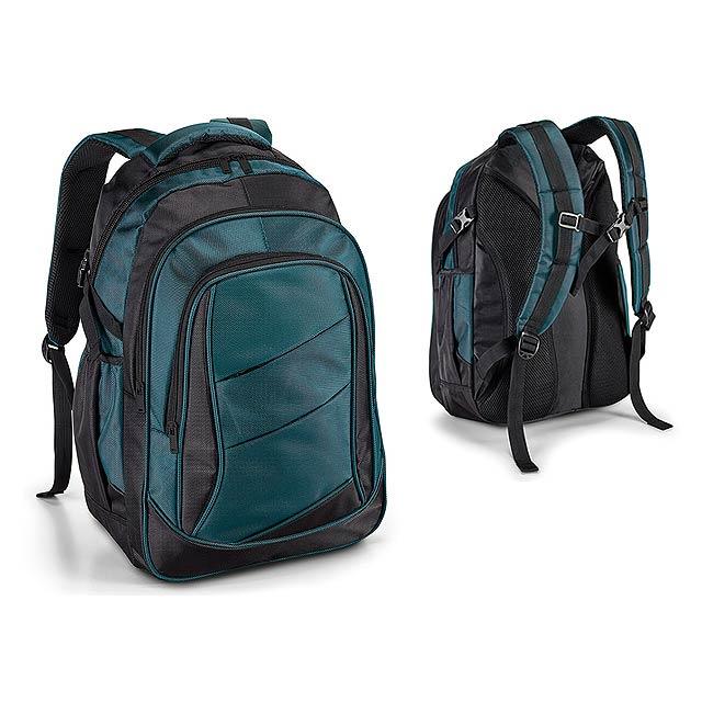 CAYMAN polyesterový batoh na notebook, 1680D a 300D, Polární modrá - modrá