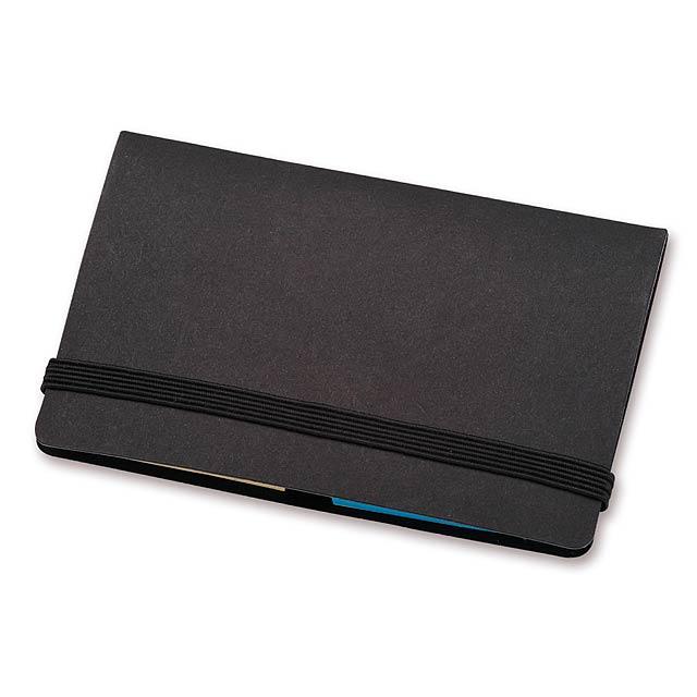 TAZY - barevné lepicí papírky (22 ks/barva) v papírovém obalu - černá