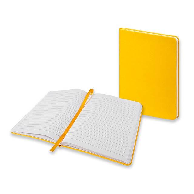BRISA - Poznámkový zápisník se záložkou, 160 linkovaných stran.          - žlutá