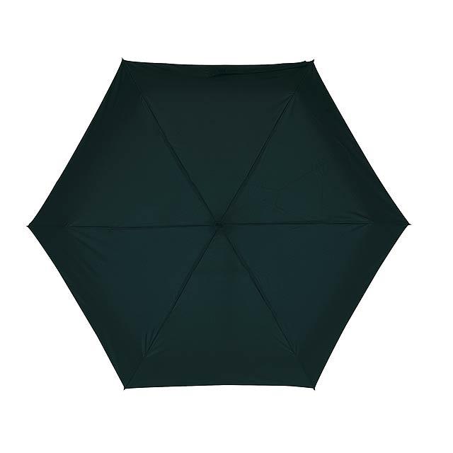 Hliníkový mini skládací deštník POCKET - černá