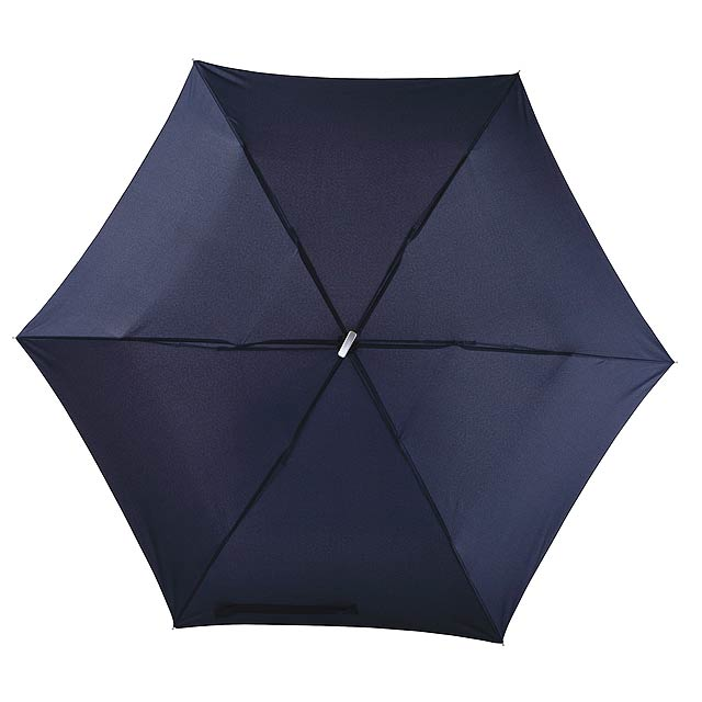 Super tenký mini skládací deštník FLAT - modrá