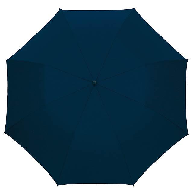 Automatický větroudolný skládací deštník pro muže MISTER - modrá