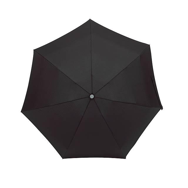 Hliníkový skládací deštník SHORTY - černá