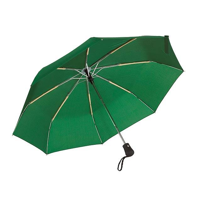 Automatický open/close, větrudodolný skládací deštník BORA - zelená