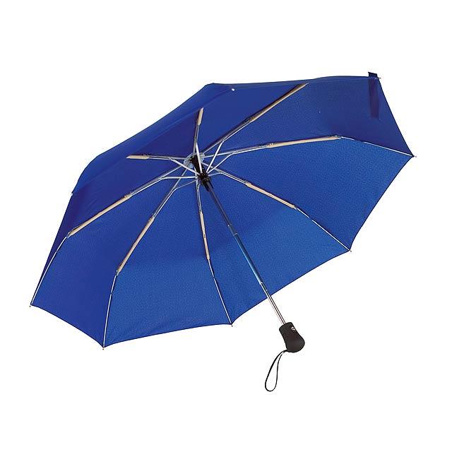 Automatický open/close, větrudodolný skládací deštník BORA - modrá