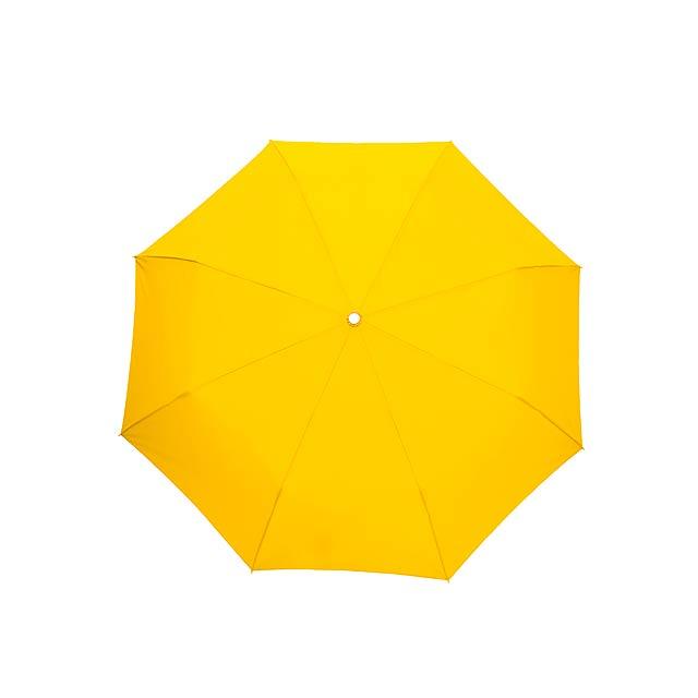 Skládací deštník TWIST - žlutá