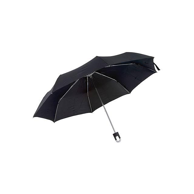 Skládací deštník TWIST - černá