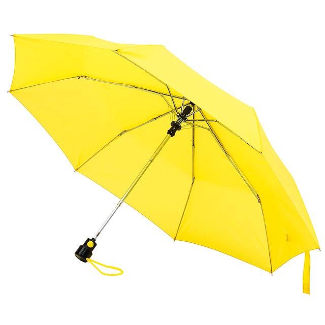 Skládací automatický deštník PRIMA - žlutá
