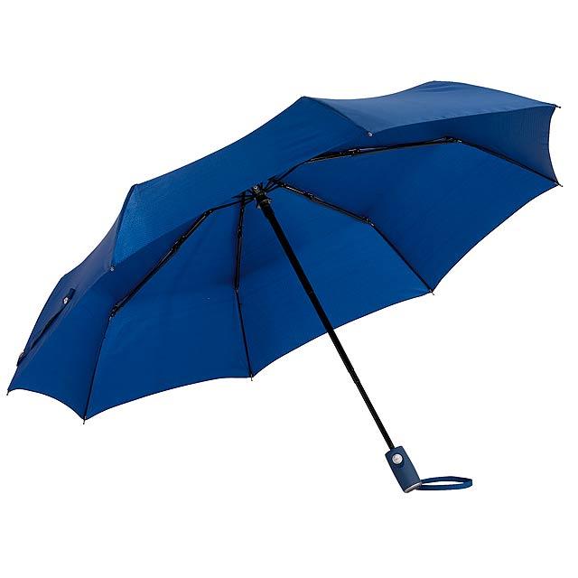 Automatický větruodolný skládací deštník ORIANA - modrá