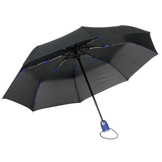 Plně automatický větruvzdorný kapesní deštník STREETLIFE - modrá