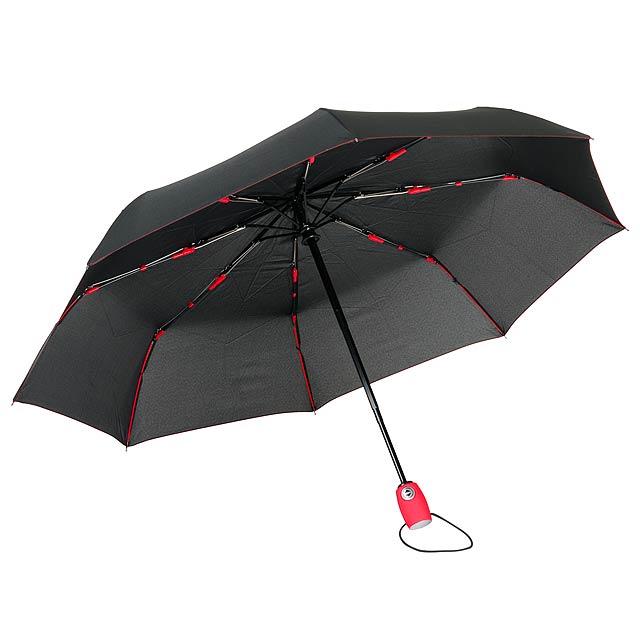 Plně automatický větruvzdorný kapesní deštník STREETLIFE - červená