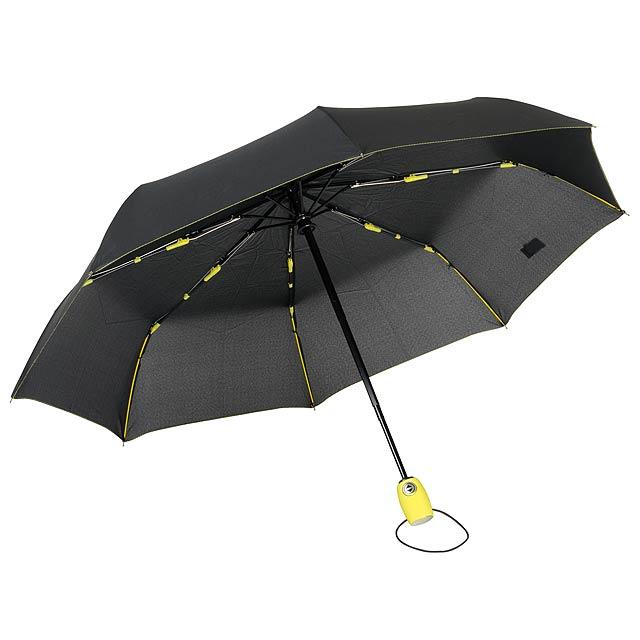 Plně automatický větruvzdorný kapesní deštník STREETLIFE - žlutá