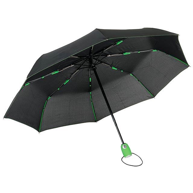 Plně automatický větruvzdorný kapesní deštník STREETLIFE - zelená