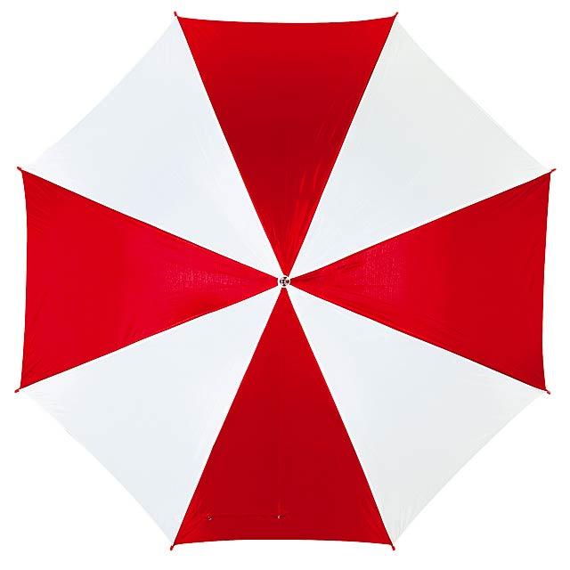 Automatický holový deštník  DISCO - červená
