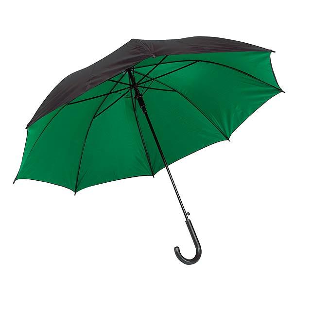 Automatický holový deštník  DOUBLY - zelená