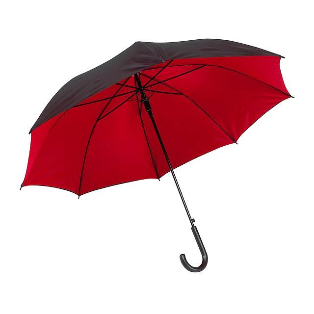Automatický holový deštník  DOUBLY - červená