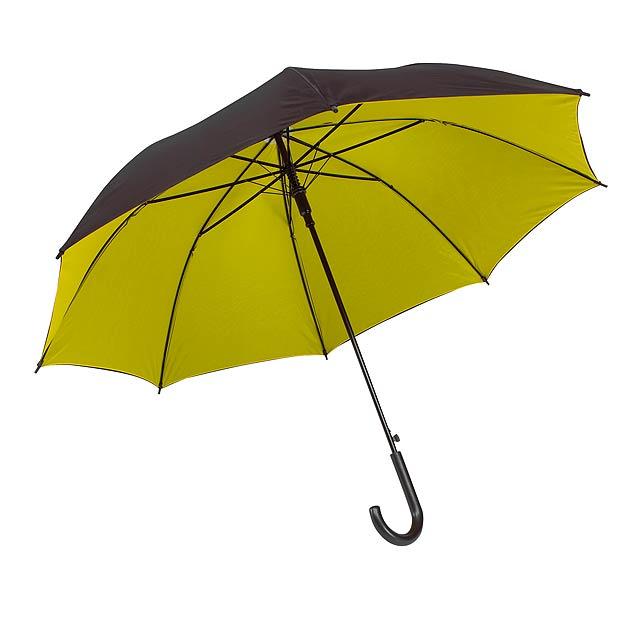Automatický holový deštník  DOUBLY - žlutá