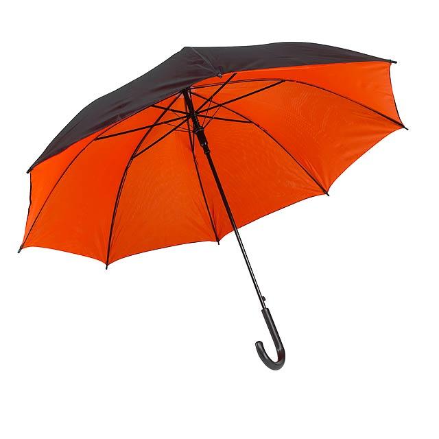 Automatický holový deštník  DOUBLY - oranžová