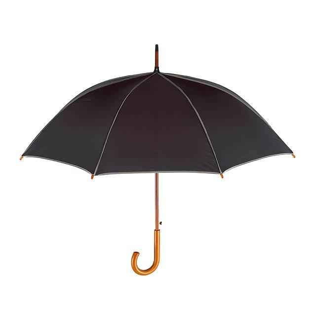Automatický dřevěný holový deštník  WALTZ - šedá