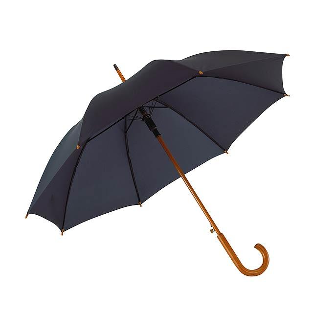 Automatický dřevěný holový deštník  TANGO - modrá