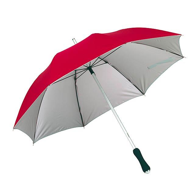Hliníkovo/sklolaminátový deštník JOKER - červená