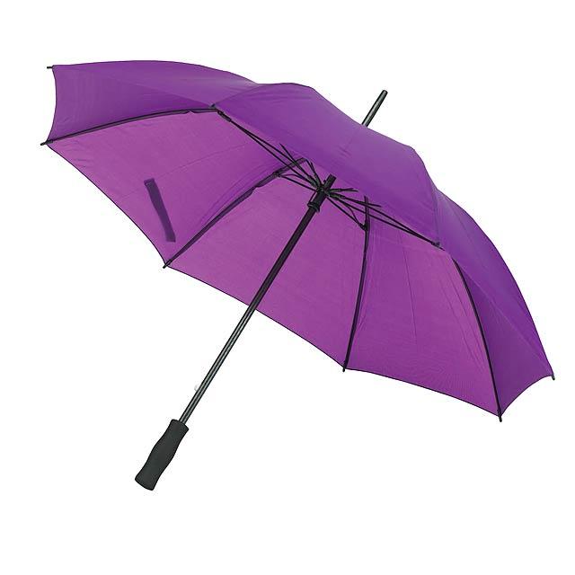 Skolaminátový holový deštník FLORA - fialová