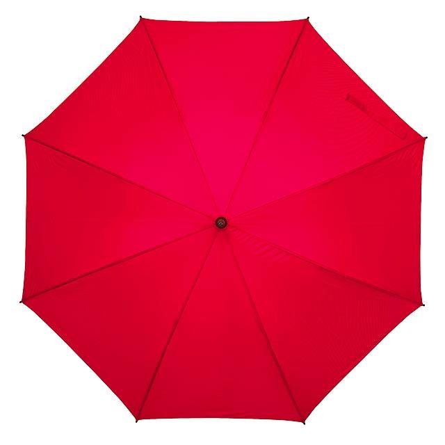 Skolaminátový holový deštník FLORA - červená