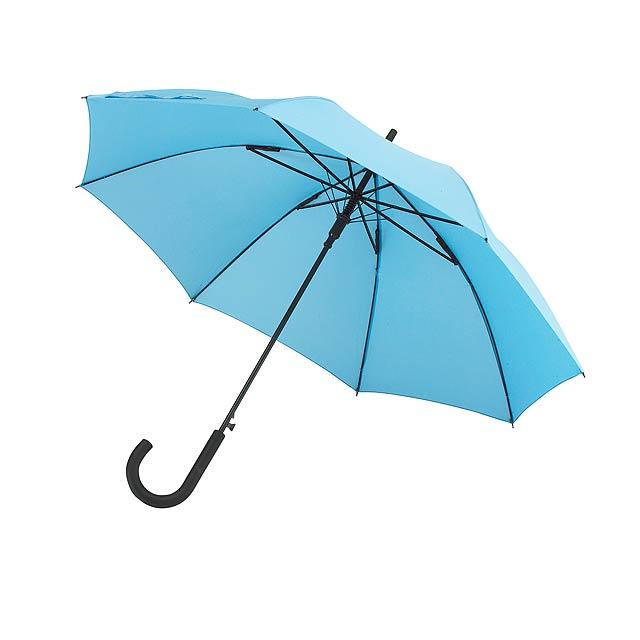 Automatický dvětruodolný holový deštník WIND - nebesky modrá