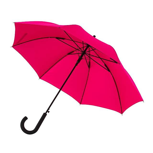 Automatický dvětruodolný holový deštník WIND - fuchsiová (tm. růžová)