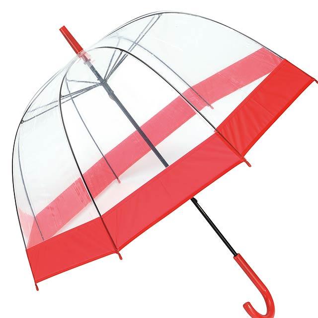 Deštník ve tvaru zvonu HONEYMOON - červená