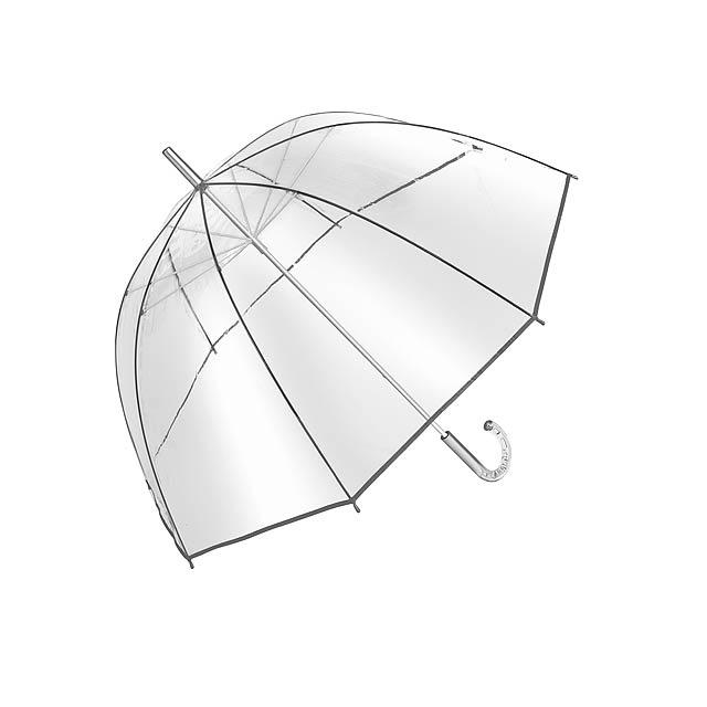Transparentní deštník BELLEVUE - stříbrná