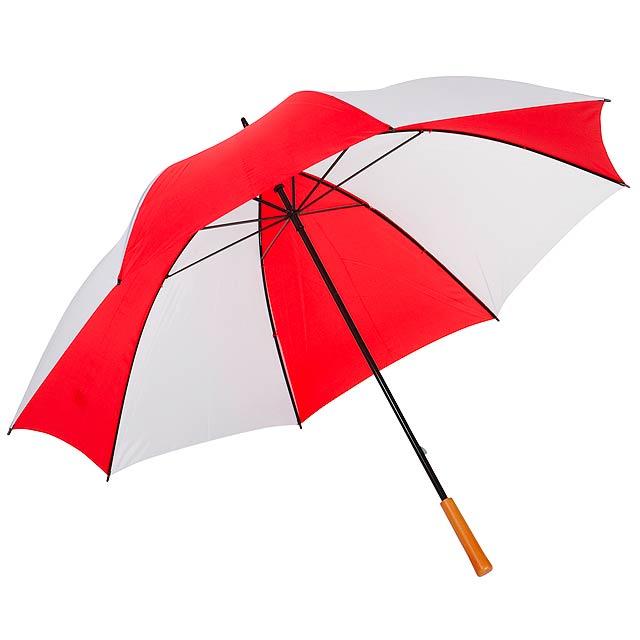 Golfový deštník RAINDROPS - červená