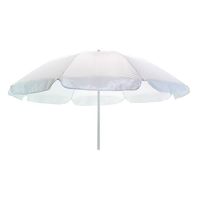 Plážový deštník a slunečník SUNFLOWER - bílá
