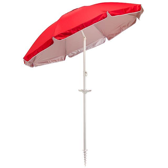 Plážový deštník a slunečník  BEACHCLUB - červená