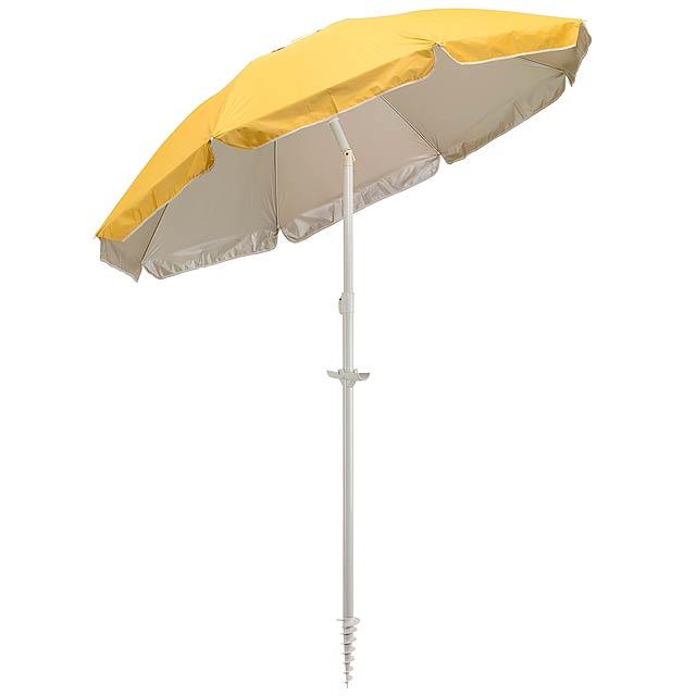 Plážový deštník a slunečník BEACHCLUB - žlutá