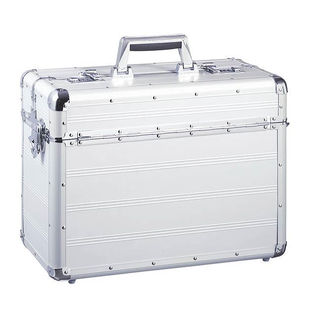 Hliníkový pilotní kufřík  COCKPIT - stříbrná