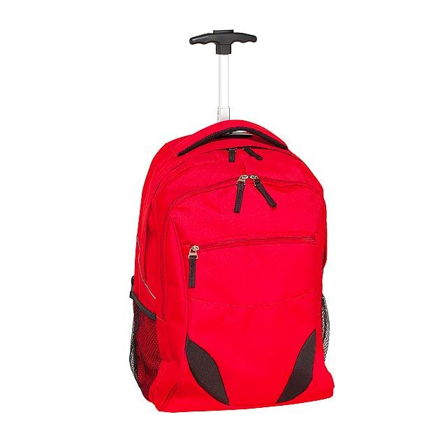 Batoh na kolečkách  TRAILER - červená