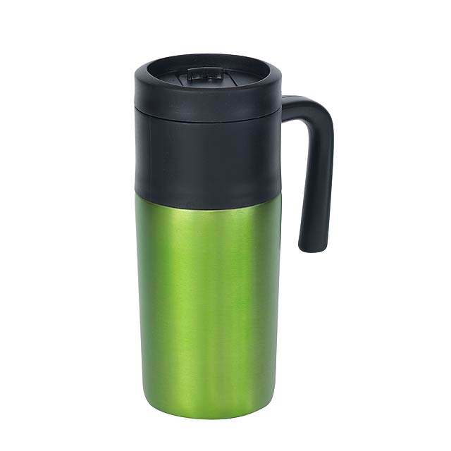 Dvoustěnný termohrnek GRAB AND GO - zelená
