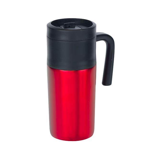 Dvoustěnný termohrnek GRAB AND GO - červená