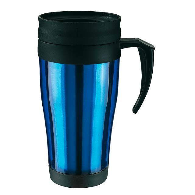 Dvoustěnný termohrnek WARM-UP - modrá
