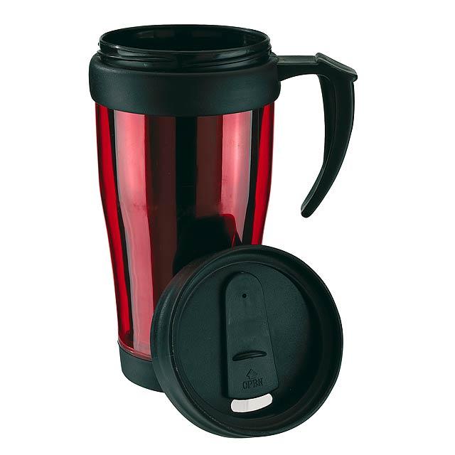 Dvoustěnný termohrnek WARM-UP - červená